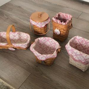Set of 5 Longaberger Horizon of Hope Baskets